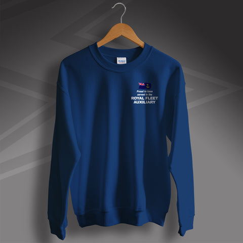 Royal Fleet Auxiliary Sweatshirt Embroidered Proud to Have Served