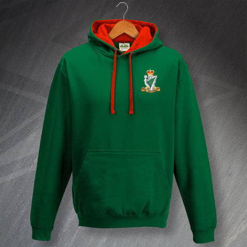 Royal Irish Rangers Hoodie Embroidered Contrast