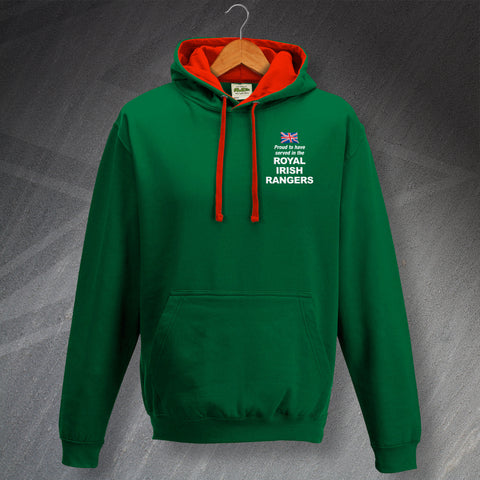 Royal Irish Rangers Hoodie Embroidered Contrast Proud to Have Served