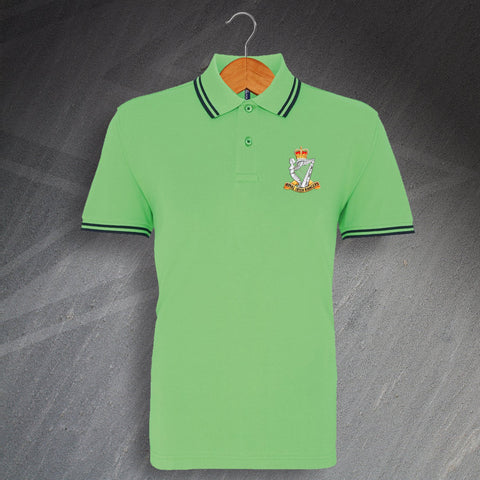 Royal Irish Rangers Polo Shirt Embroidered Tipped