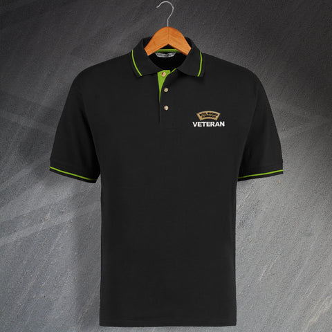 Royal Marines Commando Veteran Embroidered Contrast Polo Shirt