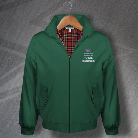 Royal Marines Harrington Jacket Embroidered Proud to Have Served