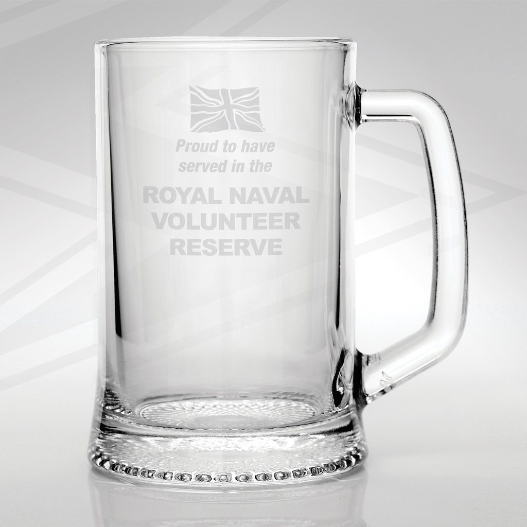 Royal Naval Volunteer Reserve Glass Tankard