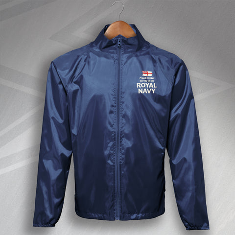 Royal Navy Lightweight Jacket Embroidered Proud to Have Served