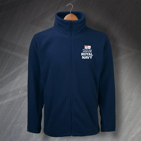 Royal Navy Fleece Embroidered Proud to Have Served