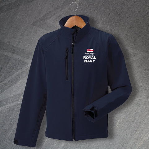 Royal Navy Jacket Embroidered Softshell Proud to Have Served