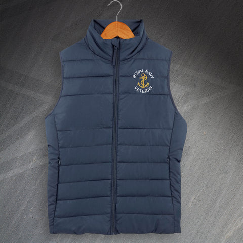 Royal Navy Bodywarmer Embroidered Veteran Anchor