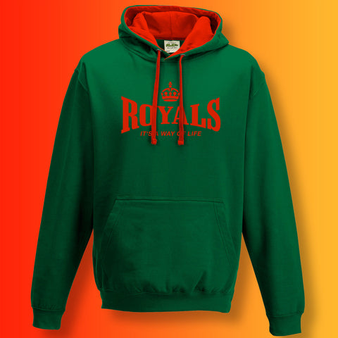 The Royals Contrast Hoodie with It's a Way of Life Design