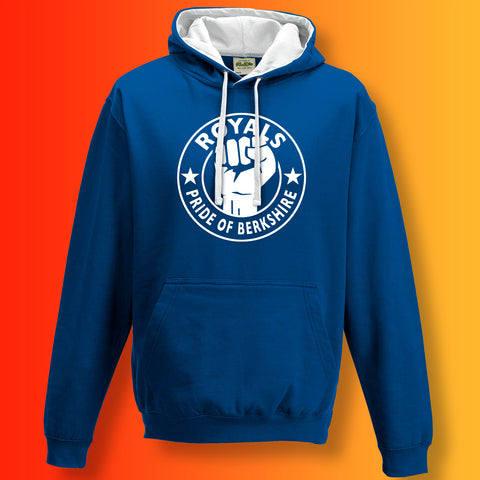 Royals Contrast Hoodie with The Pride of Berkshire Design