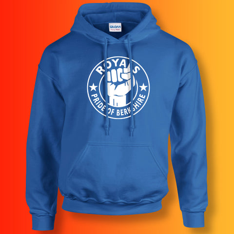 Royals Hoodie with The Pride of Berkshire Design Royal Blue
