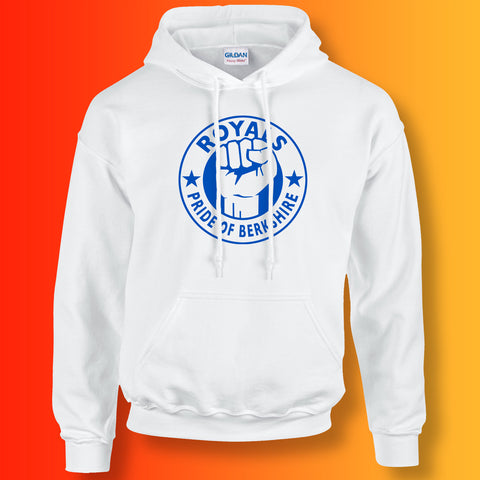 Royals Hoodie with The Pride of Berkshire Design White