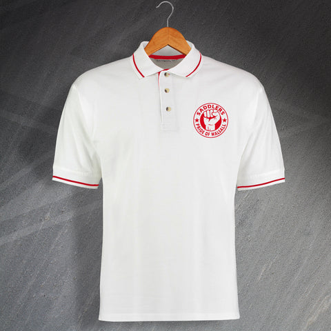 Walsall Football Polo Shirt Embroidered Contrast Saddlers Pride of Walsall