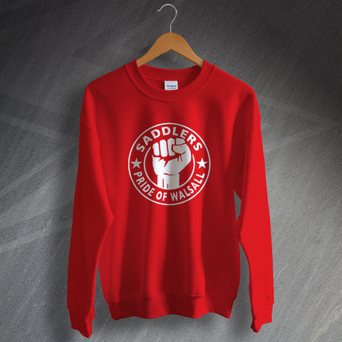 Walsall Football Sweatshirt Saddlers Pride of Walsall