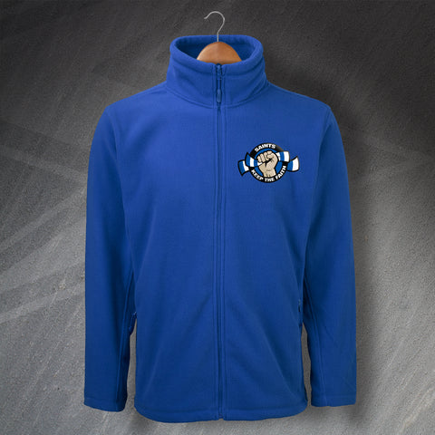 St Johnstone Football Fleece Embroidered Saints Keep The Faith