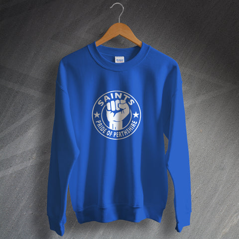 St Johnstone Football Sweatshirt Saints Pride of Perthshire