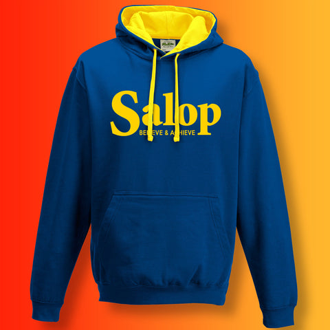 Salop Contrast Hoodie with Believe & Achieve Design