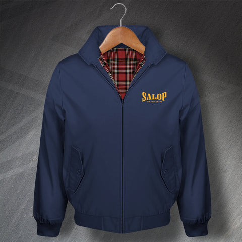 Shropshire Harrington Jacket Embroidered Salop It's a Way of Life