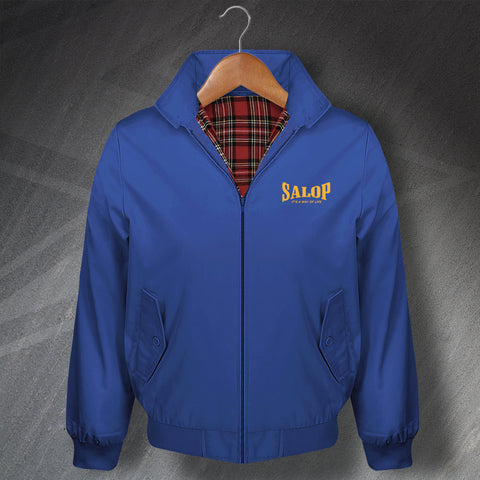 Salop It's a Way of Life Embroidered Classic Harrington Jacket