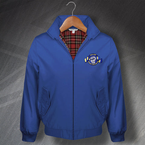 Shrewsbury Football Harrington Jacket Embroidered Salop Keep The Faith
