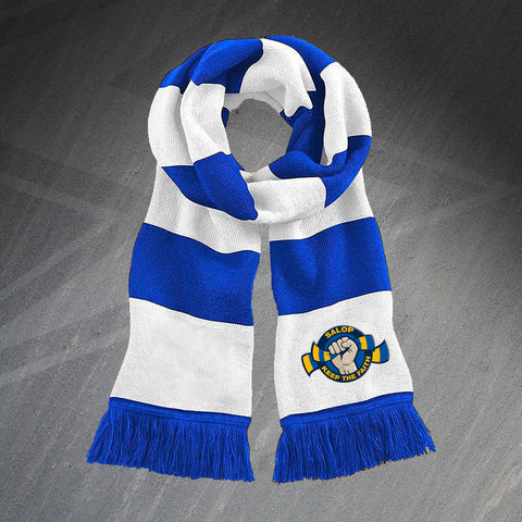 Shrewsbury Football Bar Scarf Embroidered Salop Keep The Faith