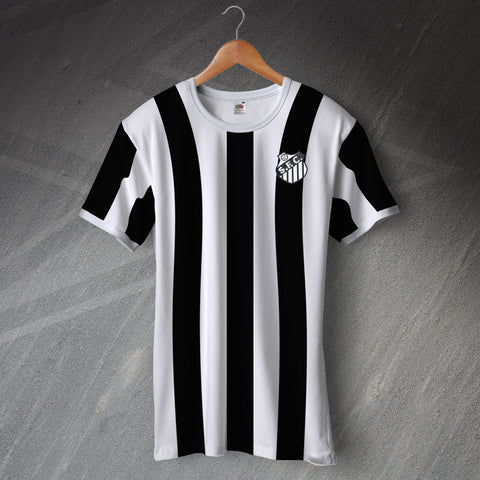 Retro Santos Ringer Shirt with Embroidered Badge