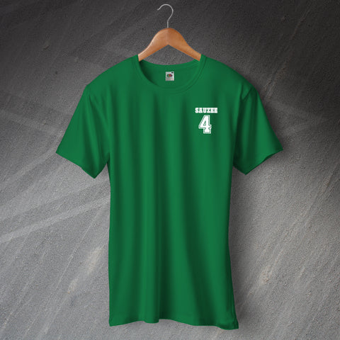 Hibs Football T-Shirt Embroidered Sauzee 4