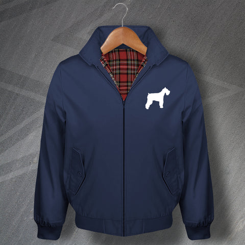 Schnauzer Embroidered Classic Harrington Jacket