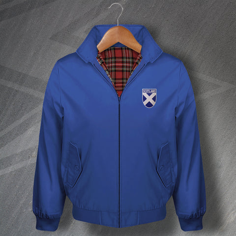Scotland Harrington Jacket Embroidered Flag of Scotland Shield