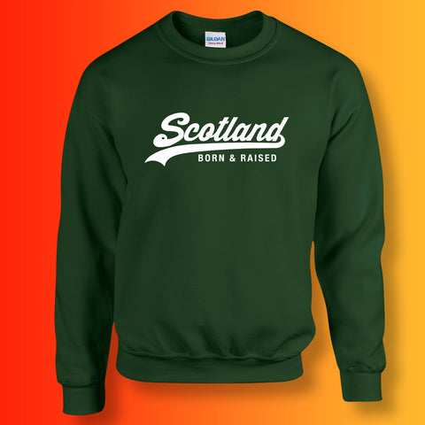 Scotland Born and Raised Unisex Sweater Forest Green