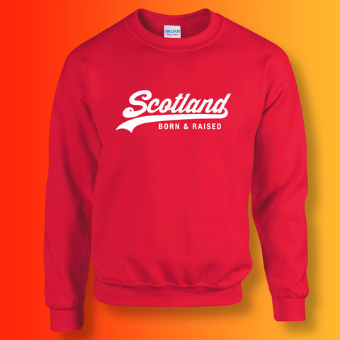 Scotland Born and Raised Unisex Sweater Red