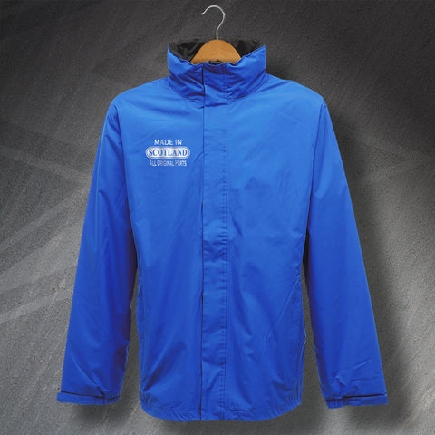 Made In Scotland All Original Parts Embroidered Waterproof Jacket
