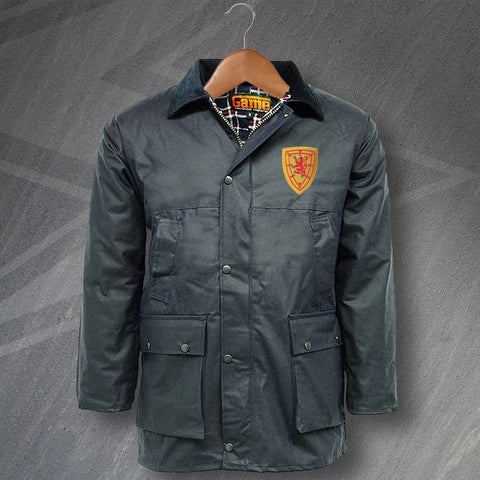 Scotland Football Wax Jacket Embroidered Padded 1879