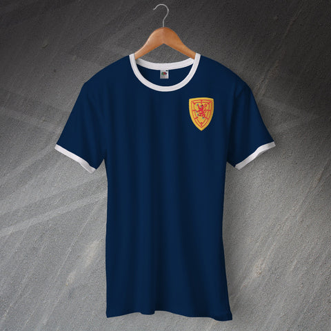 Scotland Football Shirt Embroidered Ringer 1879