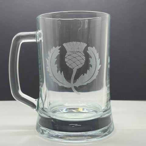 Scotland Rugby Glass Tankard Engraved 1925