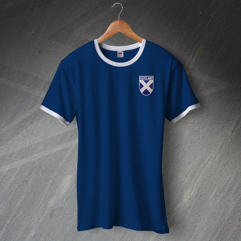 Scotland Ringer Shirt with Embroidered Badge