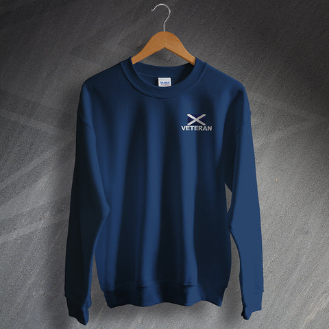 Veteran Sweatshirt Embroidered Flag of Scotland