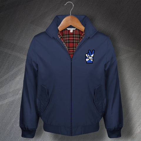 Scotland Victory Embroidered Classic Harrington Jacket