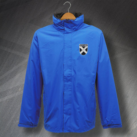 Scotland Waterproof Jacket with Embroidered Badge