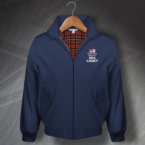 Proud to Have Trained as a Sea Cadet Embroidered Classic Harrington Jacket