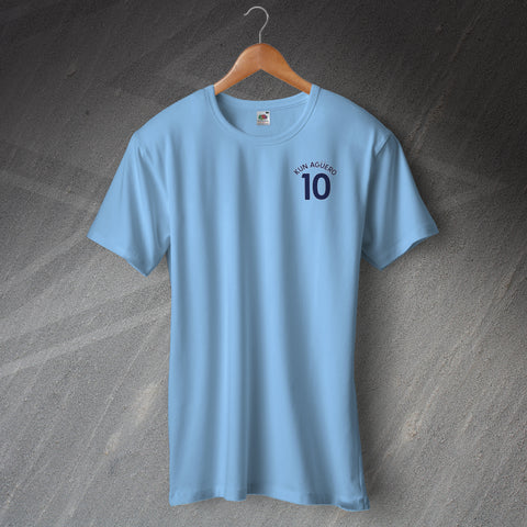 City Football Shirt Embroidered Kun Aguero 10