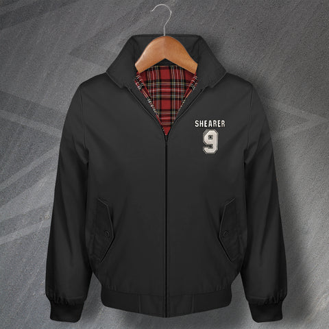 Shearer 9 Football Harrington Jacket Embroidered