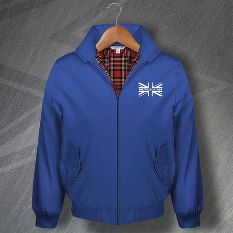 Wednesday Football Harrington Jacket Embroidered Union Jack Sheffield is Ours