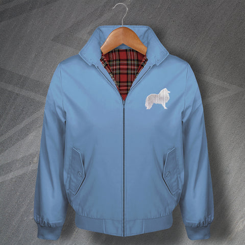 Shetland Sheepdog Embroidered Classic Harrington Jacket