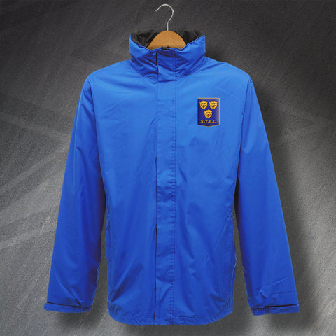 Shrewsbury Football Jacket Embroidered Waterproof 1992