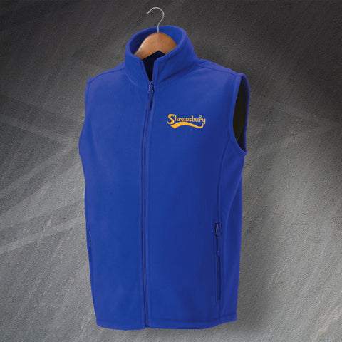 Shrewsbury Football Fleece Gilet Embroidered