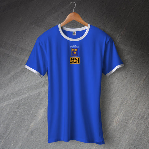 Shrewsbury Football Shirt Embroidered Ringer WSJ 1992-93