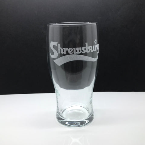 Shrewsbury Football Pint Glass Engraved