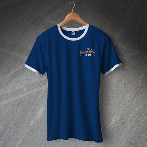 Shrewsbury Town Fisheries Shirt Embroidered Ringer