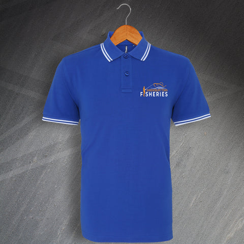 Shrewsbury Town Fisheries Polo Shirt Embroidered Tipped