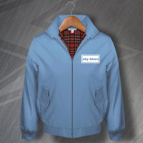 Coventry Football Harrington Jacket Embroidered Sky Blues